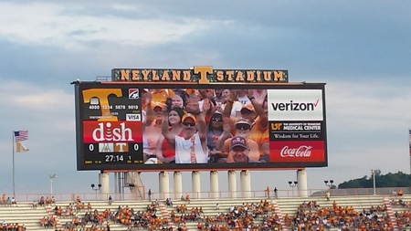 Everyone enjoyed going to the Orange and White game!